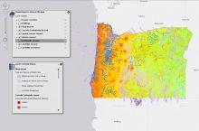 Screenshot of Oregon HazVu map