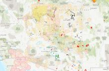 Screenshot of Arizona natural hazards map