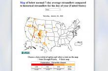 Screenshot of USGS DroughtWatch map