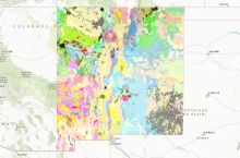 Screenshot of the New Mexico Bureau of Geology and Mineral Resources' interactive map of New Mexico