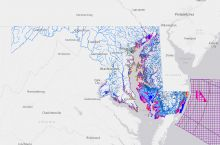 Screenshot of the Maryland Coastal Atlas. Image Credit: Maryland Department of Natural Resources
