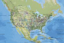 Screenshot of interactive map of United States energy infrastructure and resources