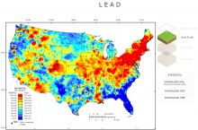 Screenshot of USGS map of geochemistry and mineralogy of soils. Image Credit: U.S. Geological Survey.
