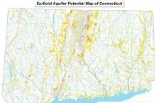 Screenshot of Surficial Aquifer Map of Connecticut