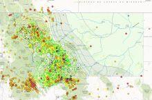 Screenshot of Montana earthquake map