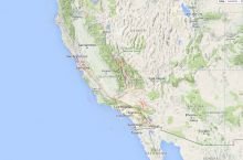 Screenshot of California fault activity map