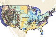 Screenshot of interactive geological map of the United States