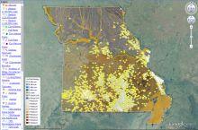 Screenshot of MO geoscience map