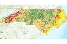 Screenshot of NC geoscience map