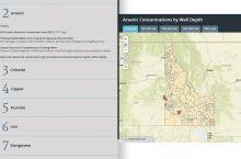 Screenshot of Idaho groundwater quality map