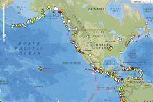 Screenshot of the NOAA natural hazards viewer