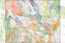 Screenshot of the WSGS interactive map of oil and gas resources in Wyoming