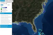 Screenshot of NOAA's Sea Level rise and Coastal Flooding Impacts data viewer