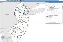 Screenshot of the NJ geosciences map