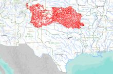Screenshot of USGS Streamer application