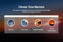 Screenshot of NASA's Climate Time Machine visualization