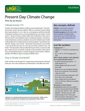 Cover of AGI Factsheet 2018-004 - Present Day Climate Change