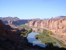 Water flowing on the Colorado River near Moab, Utah