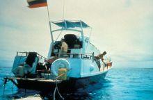 Paleoclimatologists studying a reef