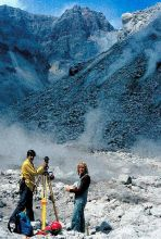 Volcanologists monitoring Mt. St. Helens