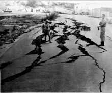 Fissuring of an earthquake, Peru 1970