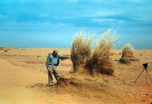 Inspecting wind-eroded soil