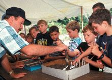 Students stufying soil at an NRCS educational event in Missouri