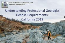 Cover image Understanding Professional Geologist License Requirements: California 2019, (Image credit: Laurie Racca)