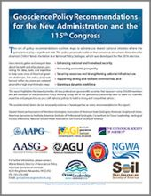Cover image of GWG 2017 Transition document; Image credit: American Geosciences Institute