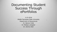 E-Portfolio Webinar Title Slide