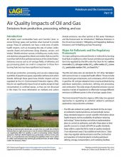 Cover of Air Quality Impacts of Oil and Gas