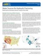 Cover of Water Sources for Hydraulic Fracturing