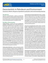 Cover of Geoscientists in Petroleum and the Environment