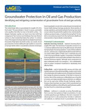 Cover of Groundwater Protection in Oil and Gas Production