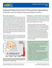 Cover of Induced Seismicity from Oil and Gas Operations