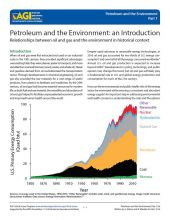Cover of Petroleum and the Environment - an Introduction