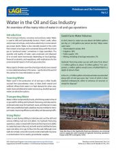 Cover of Water in the Oil and Gas Industry