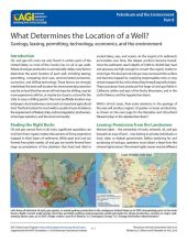 Cover of What Determines the Location of a Well