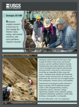 Screen shot of the USGS Geologist Career Card