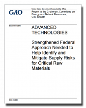 GAO Critical Materials Report Cover