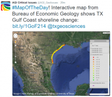 Interactive map of Texas Gulf shoreline change rates. Image Credit: Bureau of Economic Geology, University of Texas