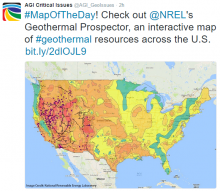 Interactive map of geothermal resources in the United States. Image Credit: National Renewable Energy Laboratory