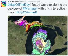 Screenshot of interactive map of Michigan geology. Image Credit: Michigan Geological Survey