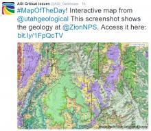 Screenshot of interactive map of Utah geology. Image Credit: Utah Geological Survey