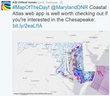 Screenshot of the Maryland Coastal Atlas