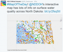 Screenshot of interactive map of North Dakota surface water quality. Image Credit: North Dakota Department of Health