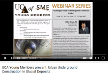 Screen shot of the webinar video on YouTube