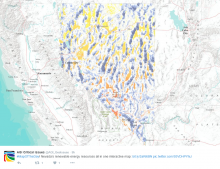 Interactive map of renewable energy resources in Nevada