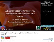 Screen shot of the webinar as it appears on YouTube