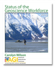 Cover of the 2016 Status of the Geoscience Workforce Report